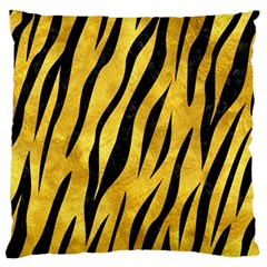 Skin3 Black Marble & Gold Paint Large Flano Cushion Case (one Side) by trendistuff