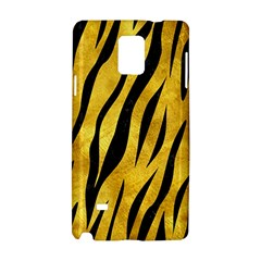 Skin3 Black Marble & Gold Paint Samsung Galaxy Note 4 Hardshell Case by trendistuff