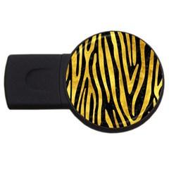 Skin4 Black Marble & Gold Paint Usb Flash Drive Round (2 Gb) by trendistuff