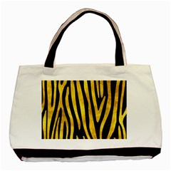 Skin4 Black Marble & Gold Paint Basic Tote Bag (two Sides)