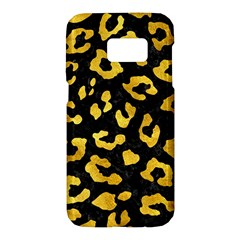 Skin5 Black Marble & Gold Paint Samsung Galaxy S7 Hardshell Case  by trendistuff