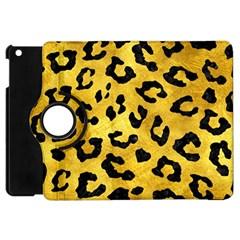 Skin5 Black Marble & Gold Paint (r) Apple Ipad Mini Flip 360 Case by trendistuff