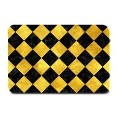 Square2 Black Marble & Gold Paint Plate Mats by trendistuff