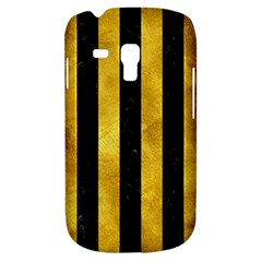 Stripes1 Black Marble & Gold Paint Galaxy S3 Mini by trendistuff