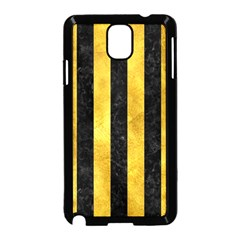 Stripes1 Black Marble & Gold Paint Samsung Galaxy Note 3 Neo Hardshell Case (black) by trendistuff