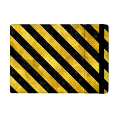 Stripes3 Black Marble & Gold Paint Ipad Mini 2 Flip Cases by trendistuff