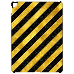 Stripes3 Black Marble & Gold Paint (r) Apple Ipad Pro 12 9   Hardshell Case by trendistuff