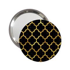 Tile1 Black Marble & Gold Paint (r) 2 25  Handbag Mirrors by trendistuff