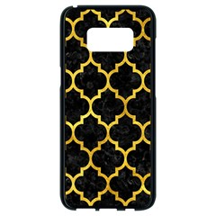 Tile1 Black Marble & Gold Paint (r) Samsung Galaxy S8 Black Seamless Case
