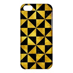 Triangle1 Black Marble & Gold Paint Apple Iphone 5c Hardshell Case by trendistuff