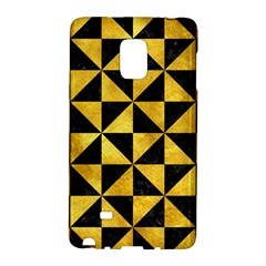 Triangle1 Black Marble & Gold Paint Galaxy Note Edge by trendistuff
