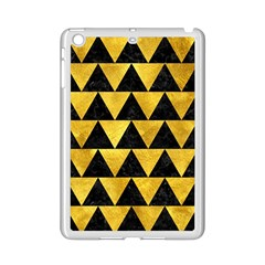 Triangle2 Black Marble & Gold Paint Ipad Mini 2 Enamel Coated Cases by trendistuff
