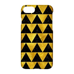 Triangle2 Black Marble & Gold Paint Apple Iphone 7 Hardshell Case by trendistuff