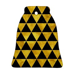 Triangle3 Black Marble & Gold Paint Ornament (bell)