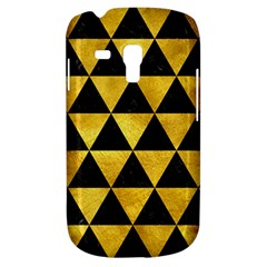 Triangle3 Black Marble & Gold Paint Galaxy S3 Mini by trendistuff