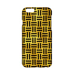Woven1 Black Marble & Gold Paint Apple Iphone 6/6s Hardshell Case