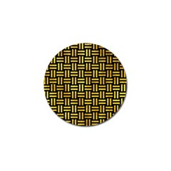 Woven1 Black Marble & Gold Paint (r) Golf Ball Marker (4 Pack) by trendistuff