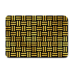 Woven1 Black Marble & Gold Paint (r) Small Doormat