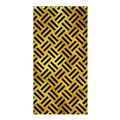 Woven2 Black Marble & Gold Paint Shower Curtain 36  X 72  (stall)  by trendistuff