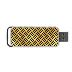 Woven2 Black Marble & Gold Paint Portable Usb Flash (two Sides) by trendistuff