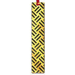 Woven2 Black Marble & Gold Paint Large Book Marks by trendistuff