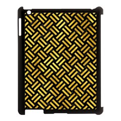 Woven2 Black Marble & Gold Paint (r) Apple Ipad 3/4 Case (black) by trendistuff