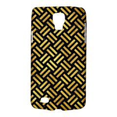 Woven2 Black Marble & Gold Paint (r) Galaxy S4 Active by trendistuff
