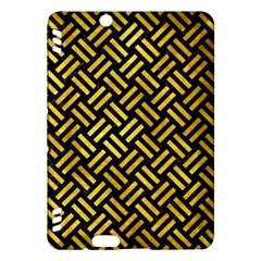 Woven2 Black Marble & Gold Paint (r) Kindle Fire Hdx Hardshell Case by trendistuff