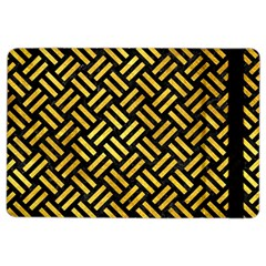 Woven2 Black Marble & Gold Paint (r) Ipad Air 2 Flip by trendistuff