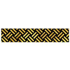 Woven2 Black Marble & Gold Paint (r) Small Flano Scarf