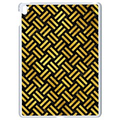 Woven2 Black Marble & Gold Paint (r) Apple Ipad Pro 9 7   White Seamless Case by trendistuff