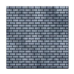 Brick1 Black Marble & Silver Paint Face Towel by trendistuff