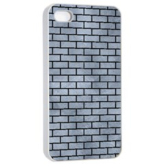 Brick1 Black Marble & Silver Paint Apple Iphone 4/4s Seamless Case (white) by trendistuff