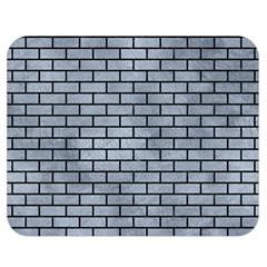 Brick1 Black Marble & Silver Paint Double Sided Flano Blanket (medium)  by trendistuff