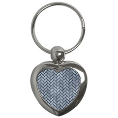 Brick2 Black Marble & Silver Paint Key Chains (heart)  by trendistuff