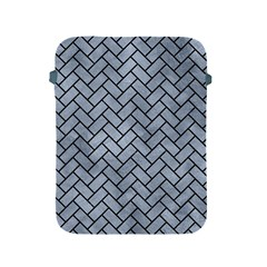 Brick2 Black Marble & Silver Paint Apple Ipad 2/3/4 Protective Soft Cases by trendistuff