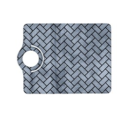 Brick2 Black Marble & Silver Paint Kindle Fire Hd (2013) Flip 360 Case by trendistuff