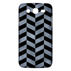 Chevron1 Black Marble & Silver Paint Samsung Galaxy Mega 5 8 I9152 Hardshell Case  by trendistuff