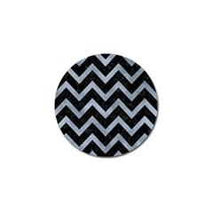 Chevron9 Black Marble & Silver Paint (r) Golf Ball Marker (4 Pack) by trendistuff