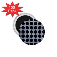 Circles1 Black Marble & Silver Paint 1 75  Magnets (100 Pack)
