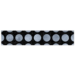 Circles1 Black Marble & Silver Paint (r) Small Flano Scarf