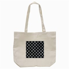Circles2 Black Marble & Silver Paint Tote Bag (cream) by trendistuff