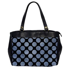 Circles2 Black Marble & Silver Paint (r) Office Handbags by trendistuff