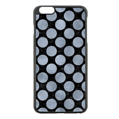Circles2 Black Marble & Silver Paint (r) Apple Iphone 6 Plus/6s Plus Black Enamel Case