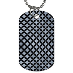 Circles3 Black Marble & Silver Paint Dog Tag (two Sides) by trendistuff