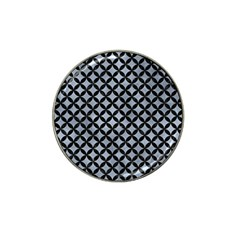 Circles3 Black Marble & Silver Paint Hat Clip Ball Marker by trendistuff