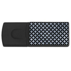 Circles3 Black Marble & Silver Paint Rectangular Usb Flash Drive by trendistuff