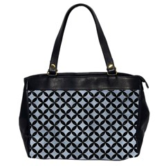 Circles3 Black Marble & Silver Paint Office Handbags (2 Sides)  by trendistuff