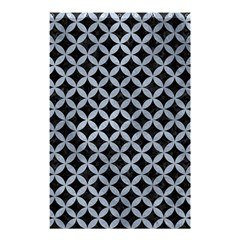 Circles3 Black Marble & Silver Paint (r) Shower Curtain 48  X 72  (small)  by trendistuff
