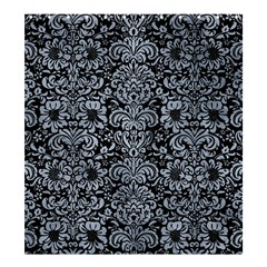 Damask2 Black Marble & Silver Paint (r) Shower Curtain 66  X 72  (large)